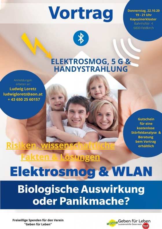 Vortrag Elektrosmog, 5G und Handystrahlung in Feldkirch