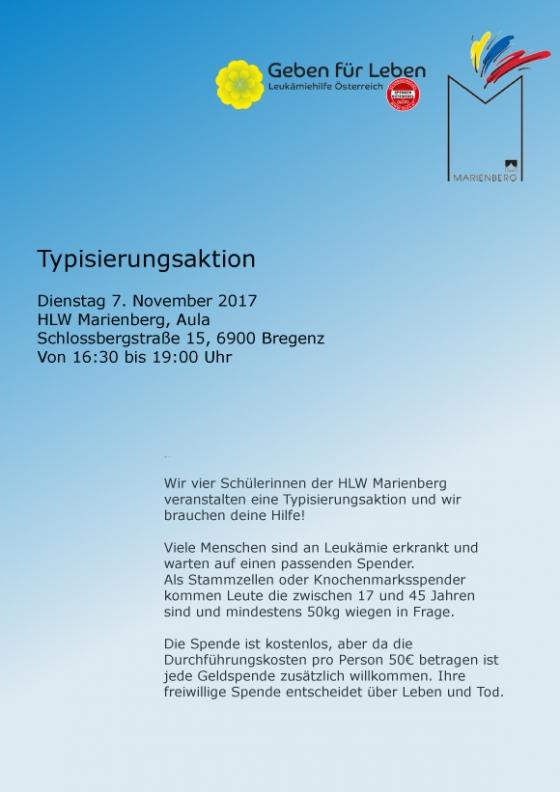 Typisierungsaktion Marienberg Bregenz