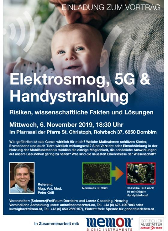 Vortrag Elektrosmog, 5G und Handystrahlung