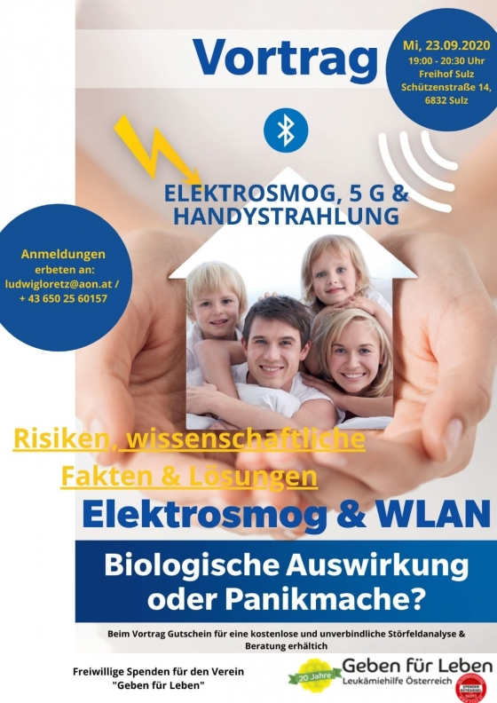 Vortrag Elektrosmog, 5G und Handystrahlung in Sulz