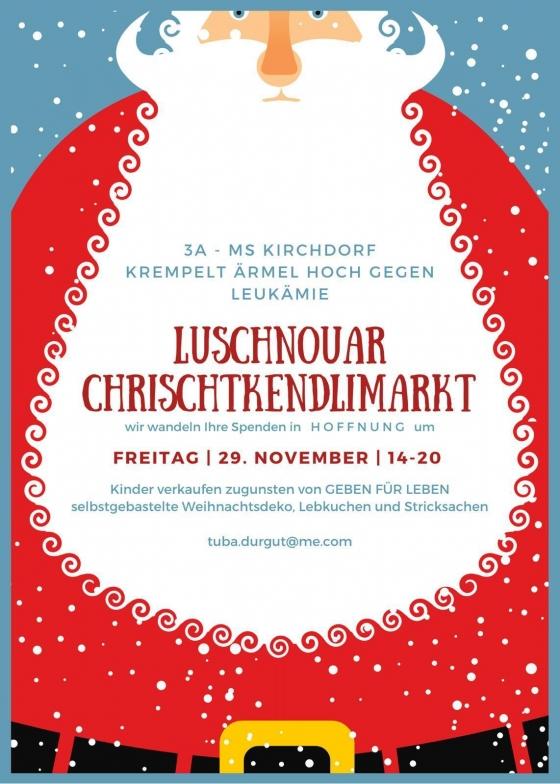 Mittelschule Lustenau am Luschnouar Chrischtkendlimarkt