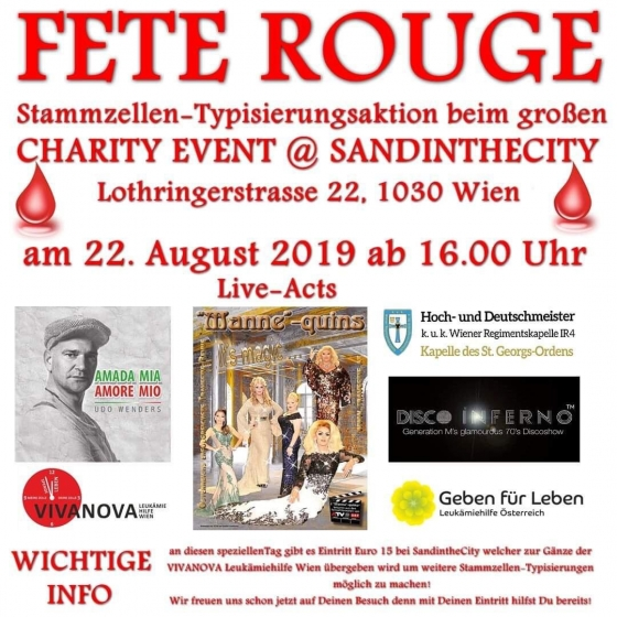 Typisierungsaktion in der Fete Rouge in WIen