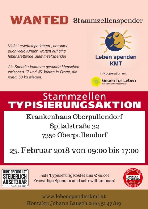 Typisierungsaktion in Oberpullendorf/B