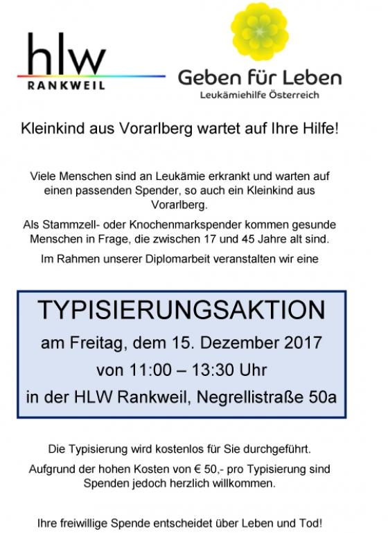 Typisierungsaktion HLW Rankweil