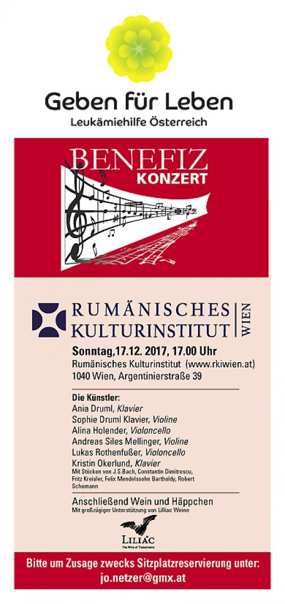 Benefizkonzert des rumänischen Kulturinstituts