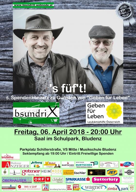 Benefizkonzert Bsundrix: s'füft!