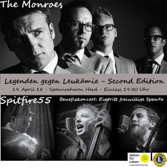 Rockiges Benefizkonzert - The Monroes und Spitfire 55
