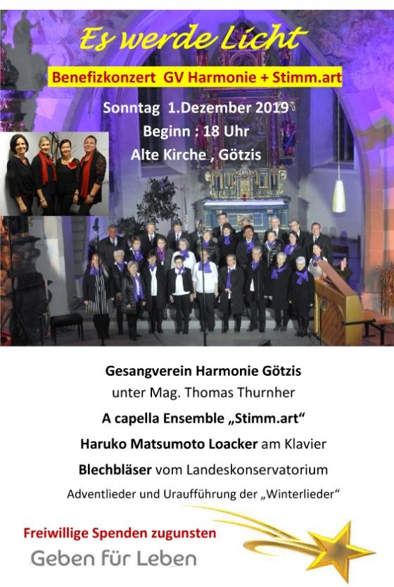 Benefizkonzert von GV Harmonie und stimm.art