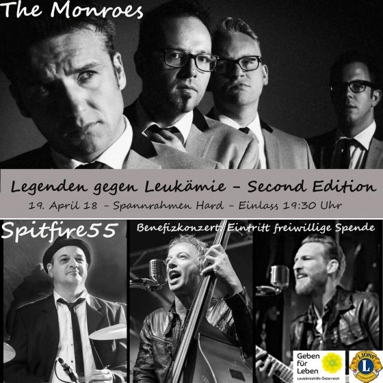 Rockiges Benefizkonzert - The Monroes und Spitfire 55