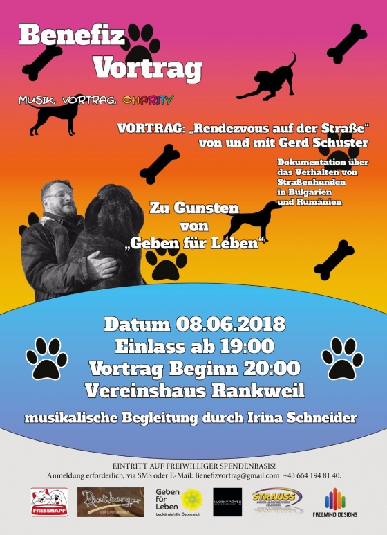 Benefizvortrag mit Hundeprofi Gerd Schuster