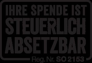 Geben für Leben - Spendenabsetzbarkeit - Reg. Nr. SO2153