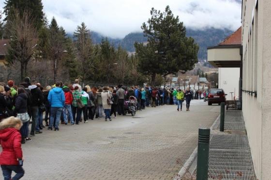 Über 1.200 Menschen kamen nach Lienz zur Typisierungsaktion