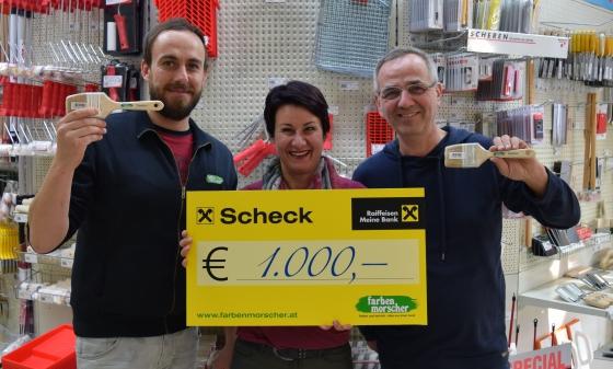 Farben Morscher spendet € 1.000,-
