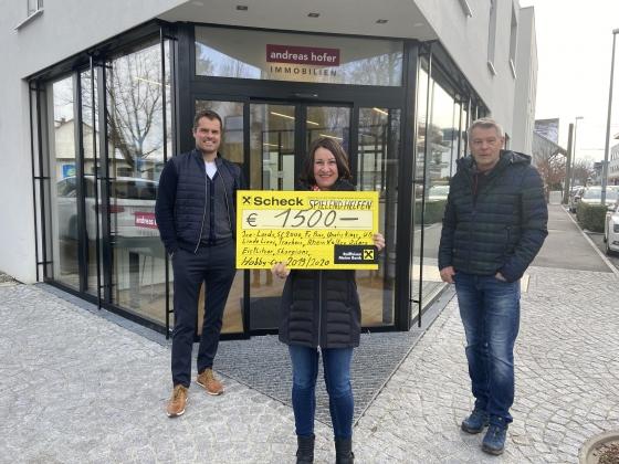 € 1.500,- vom Hobby Cup Lustenau