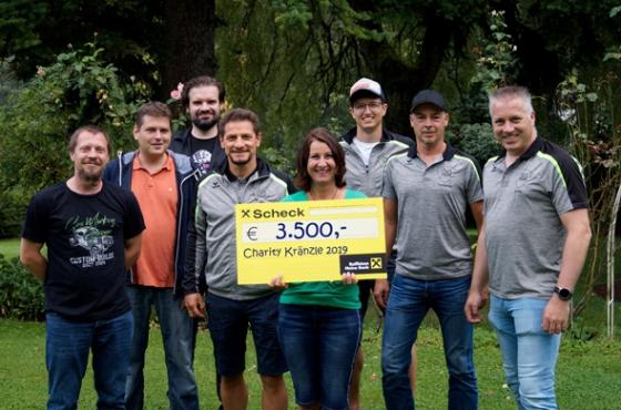 € 3.500,- vom Charity Kränzle 2019 in Schruns