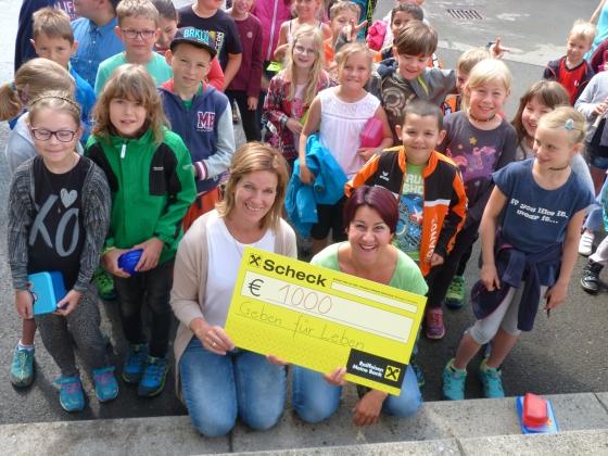TdH: Volksschule Mellau spendet € 1.000,- nach Choraufführung