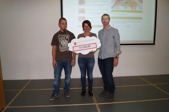 Landesberufsschule Dornbirn 1 spendet € 1.141,04 für Typisierung