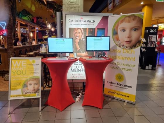 Typisierungen beim Lifesaver Corner im Cineplexx Hohenems