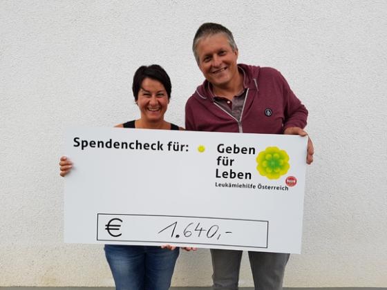 € 1.640,- nach 50. Geburtstag von Ewald Böhler