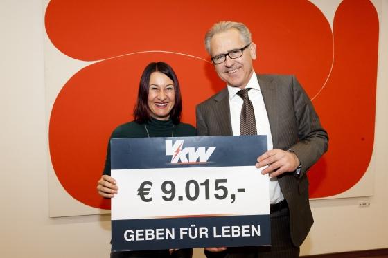 VKW - Kunden spenden € 9.015 bei Weihnachtsaktion!
