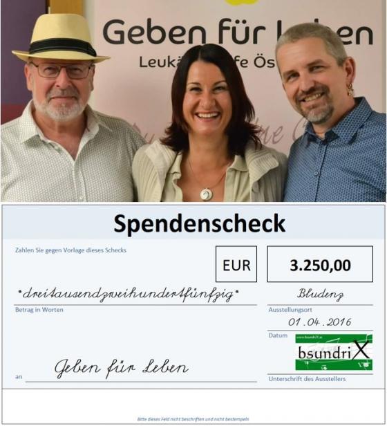 bsundriX spenden € 3.250,- für neue Typisierungen