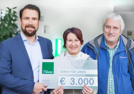 Firmentypisierung Grass mit Spende über € 3.000,-
