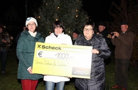 Spende durch Adventsfeier