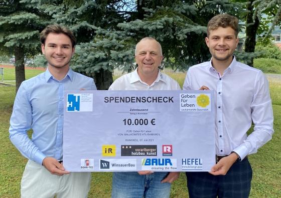 € 10.000,- vom Ballkomitee der HTL Rankweil