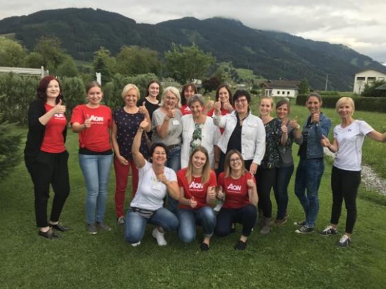 169 + 10 Typisierungen bei Aon Austria