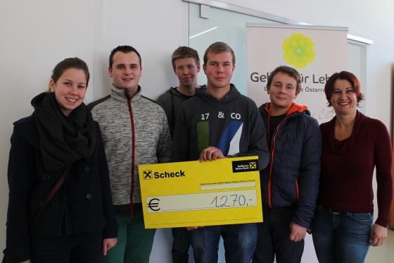 Landjugend Flake spendet € 1.270,- an unseren Verein