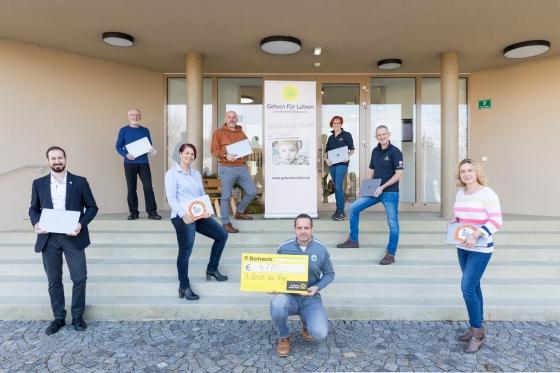 € 4770 und 16 Laptops nach Typisierungsaktion in St. Ulrich