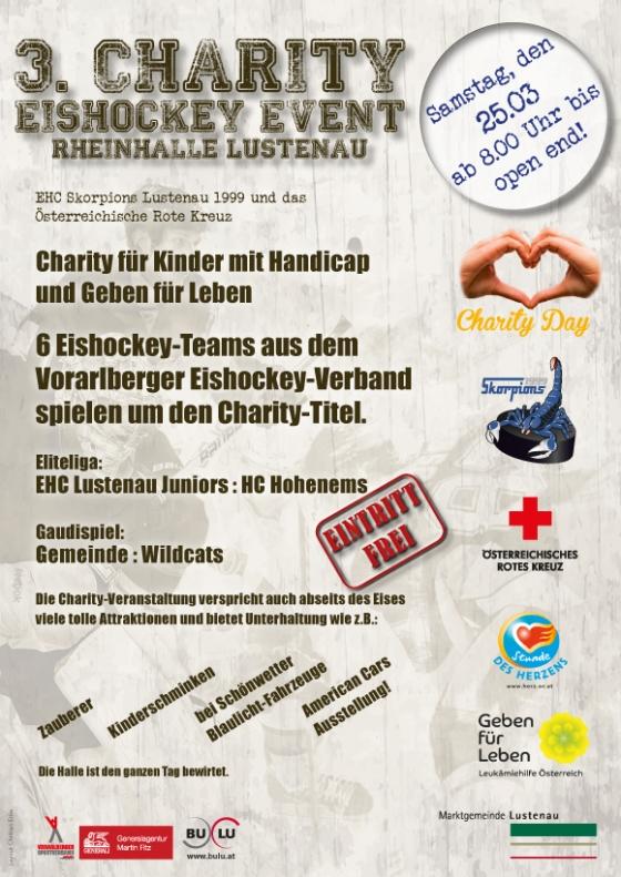 Ankündigung Charity Eishockeyturnier am 25.3.