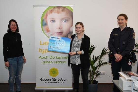 € 680 von BeamtInnen der Polizeiinspektion Bregenz