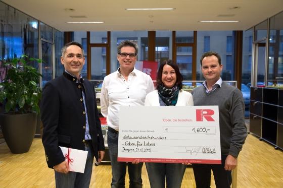 Rhomberg-Gruppe spendet € 1.600,-