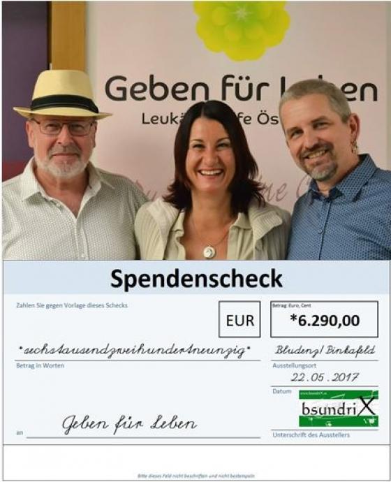 Bsundrix spendet € 6.290,- nach Konzerten