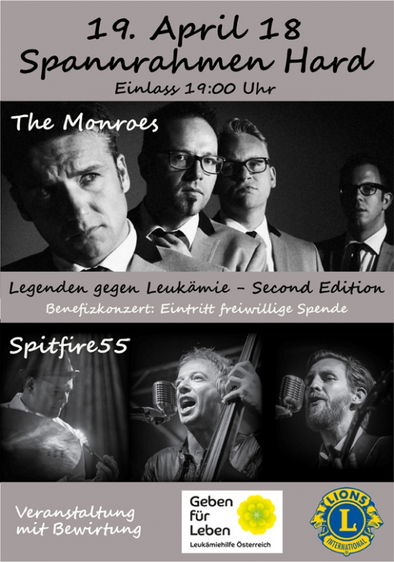 Benefizkonzert der Extraklasse mit The Monroes