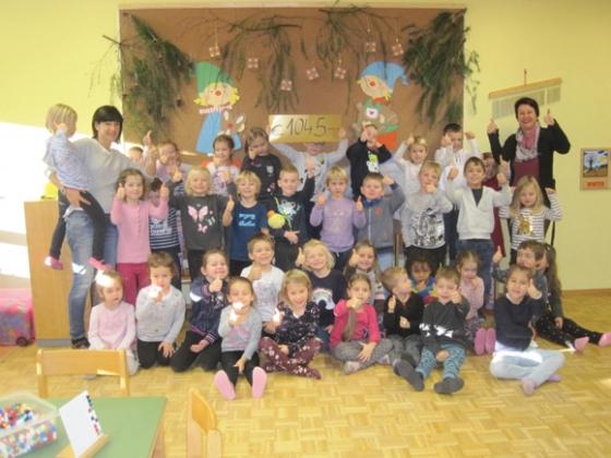 Spende über € 1.045,- vom Kindergarten Tschagguns