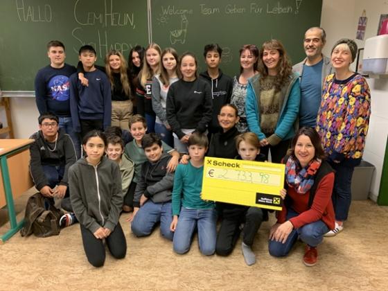 € 2.733,98 von der 3a-Klasse der MS Kirchdorf in Lustenau
