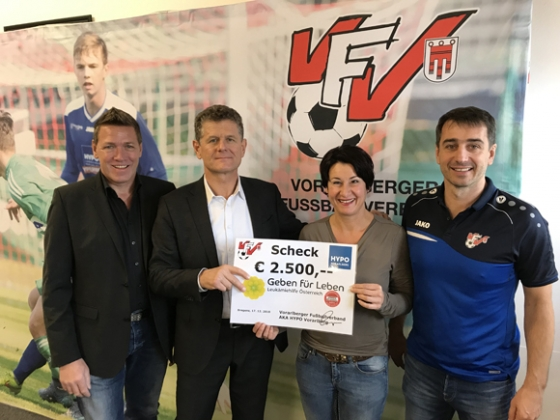 € 2.500,- Spende und 25 Typisierungen vom VFV