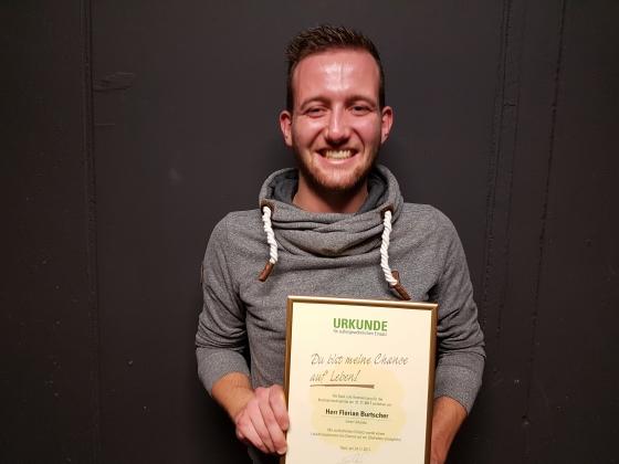Unser 54. Spender Florian Burtscher (24)