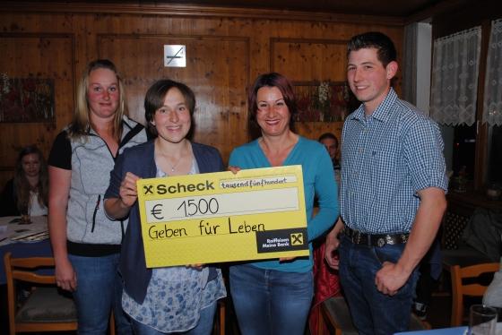 Landjugend Oberland spendet € 1.500,- für Leukämiekranke