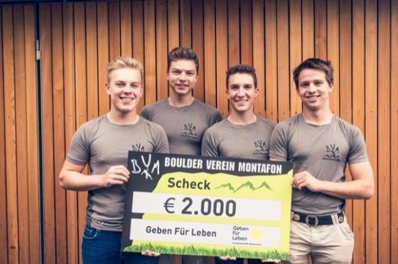 € 2.000 vom Boulder Verein Montafon