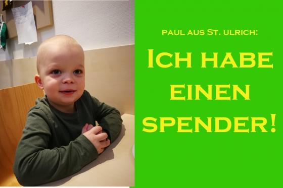 Der kleine Paul aus OÖ hat einen Spender!