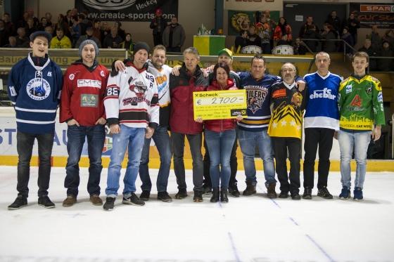 Lustenauer Eishockeyvereine spenden € 2.700,-