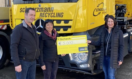 € 5.000,- von Schwarzmann Recycling