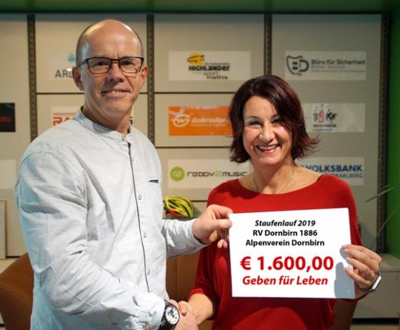 € 1.600,- nach Staufenlauf 2019