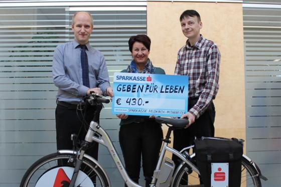 Spende über € 430,- der Sparkasse Feldkirch