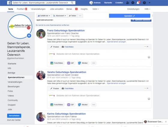 Über € 6.000,- durch Facebook-Aktionen!