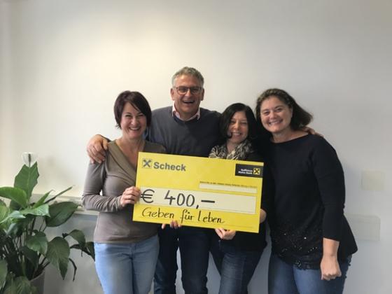 € 400,- vom Volleyballclub Langen