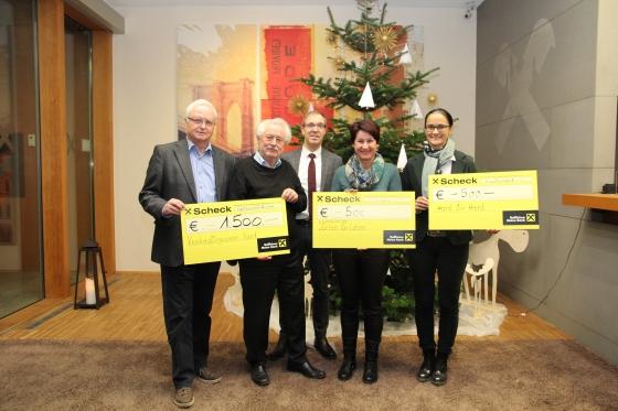 Spende über € 500,- von Raiffeisenbank am Bodensee